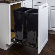 built in trash can cabinet pull out built in trash cans cabinet slide out under sink
