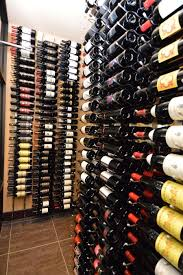 Wine Cellar Wall - commercial wine cellar cooling project in dallas texas