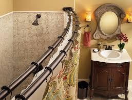 com moen dn2141owb adjule double curved shower rod old world bronze home improvement