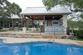 Backyard Cabana Ideas Metal Pool Buildings Designs Rustic Yet Refined Pool Cabana And
