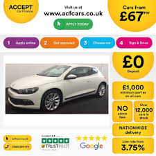 used volkswagen scirocco white for sale motors co uk