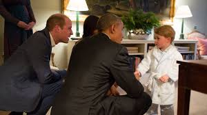 prince george meets the obamas