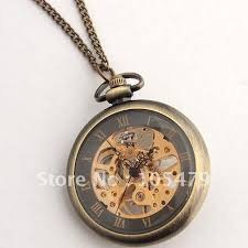 vintage necklace watch pendant images Vintage style ladies mechanical half hunter pendant watches copper jpg