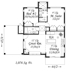 modern style house plan 2 beds 2 00 baths 1076 sq ft plan 509 8