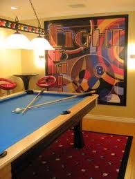 Games For Basement Rec Room by This Pool Table In The Basement Next To The Bar In The Other Room