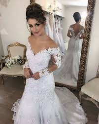 aliexpress com buy vintage lace long sleeve wedding dress 2017