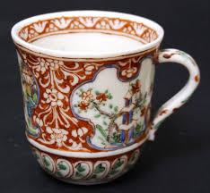 a kangxi porcelain capuchine cup london decorated blanc de chine