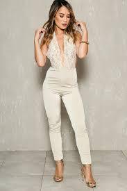 dressy jumpsuits lace halter bodycon dressy jumpsuit