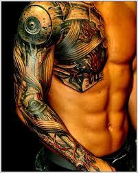 tattoo 3d design chest 35 bio mechanical tattoo designs