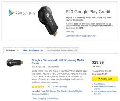 deal alert best buy online has the chromecast at 29 99 again