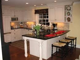 Refurbishing Kitchen Cabinets Inspiring White Refinish Kitchen Cabinets With Black Marble