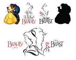 beauty beast svg etsy