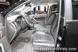 ford ranger interior ford ranger black edition interior at iaa 2017 indian autos blog