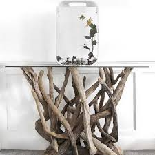 furniture unique design and style of the driftwood end tables