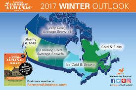 farmers almanac s 2016 2017 winter weather forecast for canada