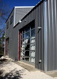 garage living space metal home and workshop allied steel buildings cabin