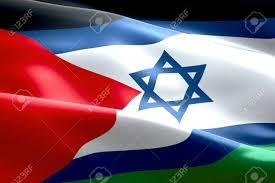 Islam Flag Israel Flag Inside Of Palestine Flag Gaza Strip Waving Texture