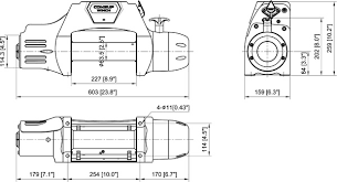 seal gen2 9 5rsi 9 500 lb self recovery winch with synthetic