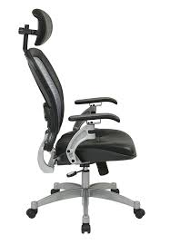 Office Star Leather Chair Amazon Com Office Star Professional Light Air Grid Back Chair