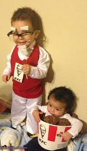 Halloween Costumes 1 Colonel Sanders Bucket Chicken Costume Colonel