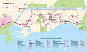 map of waikiki day passes waikiki trolley