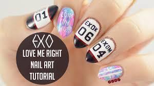 exo lovemeright nail art tutorial n y a n tutorials