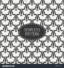 skull wrapping paper geometric monochrome line seamless pattern stock vector