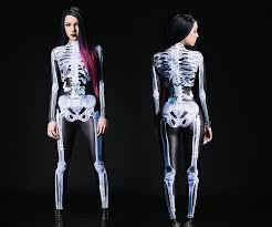 Skeleton Jumpsuit X Ray Skeleton Bodysuit Skeletons Bodysuit And Costumes