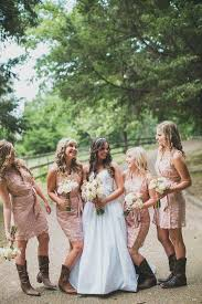 bridesmaid dresses with cowboy boots best 25 bridesmaids cowboy boots ideas on bridesmaids