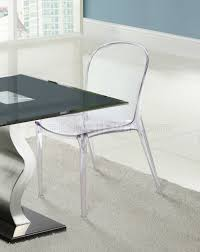 dining chair set of 4 clear or black by modway scape dining chair set of 4 clear or black by modway