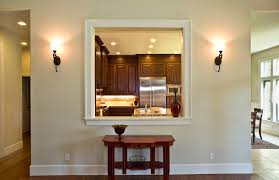 kitchen pass through window kitchen traditional with dark kitchen