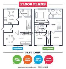 best floor plans architecture plan furniture house floor plan stock vector