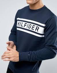 hilfiger sweater mens hilfiger hilfiger denton logo sweatshirt crew
