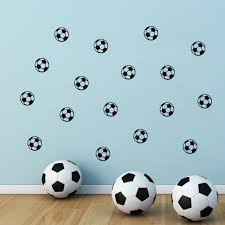 football soccer ball kids wall sticker online shopping pakistan 3 fix the sticker from the top downwards and from center to the edges using soft cloth