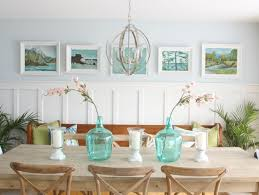 thrift store vintage painting gallery wall in the dining room