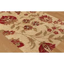 Seagrass Outdoor Rug by Floors U0026 Rugs Cream With Floral Red 8x 10 Area Rugs For Modern