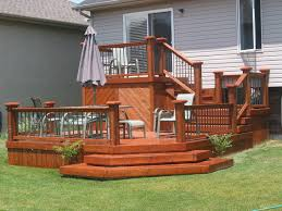 Backyard Deck Plans Pictures by Trex Transcends Decking Steel Framing And Custom Aluminum Railing
