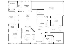 single story 4 bedroom house plans single story floor plans stylish inspiration 4 bedroom house plans