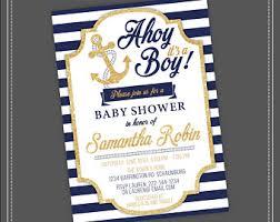 nautical baby shower invitations nautical baby shower etsy