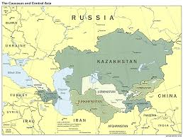 Asia Maps by Caucasus And Central Asia Political Map Full Size