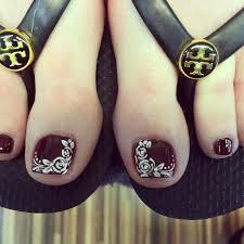 lace rose nail art design pedicure fashion pinterest pedicures