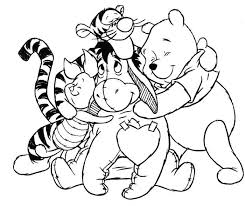 pooh bear friends coloring free download