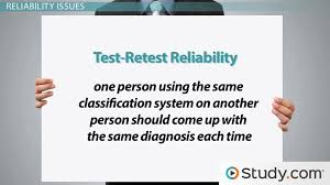 issues in psychological classifications reliability validity