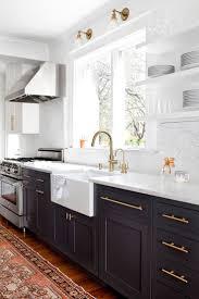 kitchen brown wooden flooring white wooden kitchen island brown