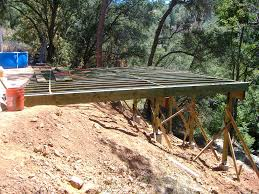 building a 24 u0027 x 20 u0027 deck on steep slope side of the house put