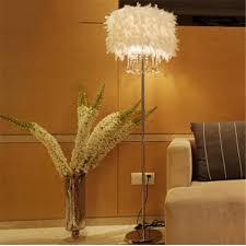 Creative Bedroom Lighting Online Shop Modern Home Decoration Living Room Feather Crystal