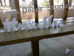 mr mrs wedding table decorations mr mrs letters wedding table decoration freestanding sign for