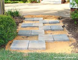 home depot path creating a paver stone zipper pathway with the home depot digin