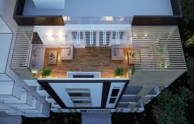 Vijaya Sky Residency Modern Apartment Exterior Design  CAS - Apartment exterior design