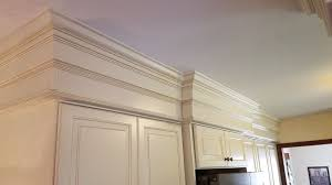 kitchen cabinet crown molding ideas eye catching details just 12 inches of stacked crown